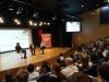 Ladeando o magistrado, os professores do Insper: Fernando Schüler (E) e Carlos Melo (D)