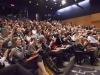 O auditório do Insper estava lotada para a palestra de Nobel de Literatura.