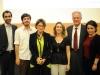 Da esquerda para a direita: Dennys Antonialli, Francisco Carvalho Brito Cruz, Agnés Callamard, Patricia Blanco, Thomas Trebat e Daniella Diniz